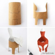 *This post contains affiliate links These little cardboard tube foxes are my kids' new favourite toys. I don't blame them, there is just something about foxes. They are cunning creatures who like to steal chickens and eat them for dinner but still, they are very, very cute don't you think? If you'd like to make some just like ours here's how: You will need: • A cardboard tube – one long