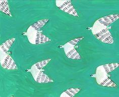 鳥のパターン Pattern Art, Pastel Colors, Birds, Abstract, Illustration, Artwork, Summary, Pastel Colours, Work Of Art