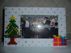 Frame with Xmas ironing bead decoration
