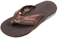 Reef Men's Leather Fanning Lux Flip Flop 8156305