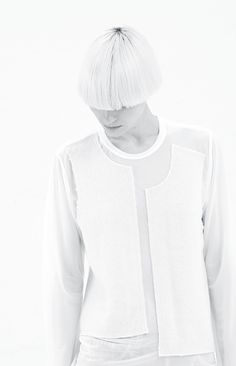 Comme Des Garcons | Off White Sheer Knit Top