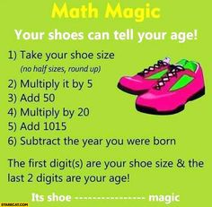 math-magic-your-shoes-can-tell-your-age-trick.jpg (735×720)