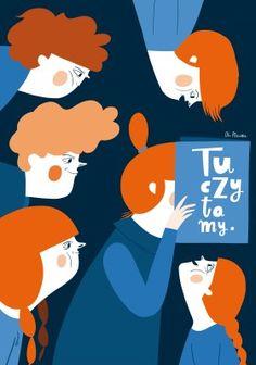 """Zdjęcie pracy Ola Płocińska, """"Tu czytam"""", plakat towarzyszący wystawie"""
