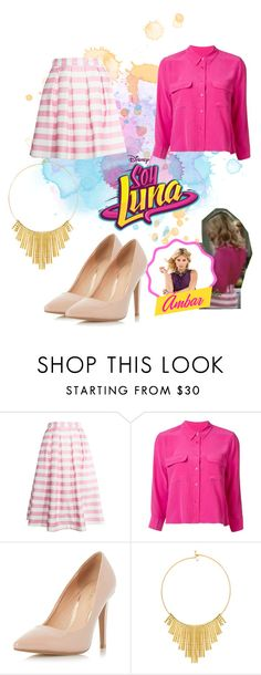 """soy luna"" by maria-look on Polyvore featuring re:named, Equipment, Dorothy Perkins and BERRICLE"