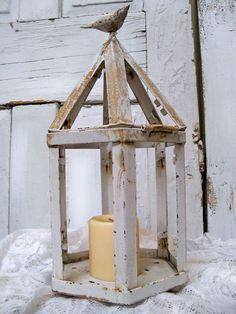 Vintage Rusty candle lantern shabby chic white farmhouse metal decor ...1127 x 1500 | 377KB | www.etsy.com