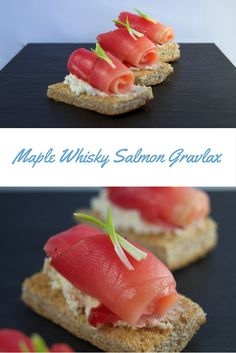 Maple Whisky (Whiskey) Gravlax. This is a super easy yet elegant dish that will impress anyone! #maple #maplesyrup #whiskey #whisky #salmon #appetizer #dinnerparty