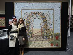 Best of Show win at Canberra quilters 2014 Quilt name Through the Garden Gate by Rose Lewis of Rose Lewis Quilting... www.roselewisquilting.com.au