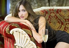 rich woman on red expensive sofa - Royalty-free Adulation Stock Photo Blonde Women, Photos For Sale, Korean Men, Girls Image, Photo Editing, Royalty Free Stock Photos, Glamour, Beautiful, Celebrities