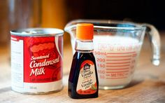 Make your own French Vanilla Coffee Creamer  Ingredients:    * 1 can of sweetened condensed milk  * 1 1/4 cups milk  * 3 tsp vanilla    Mix these three together in lidded container. Shake. Enjoy! Keeps in the fridge for up to two weeks.