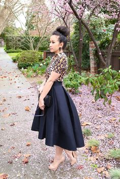 * MADE TO ORDER: The High Low Skirt in Black - KTRcollection