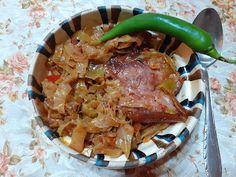 Retete cu margareta cismasiu: Varza acra cu ciolan afumat la cuptor Carne, Meat, Chicken, Pork, Cubs