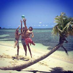 """#beachgames in #pinkhousemustique #swimmingtrunks #lagoonbay #mustique"" Photo taken by @pinkhousemustique on Instagram, pinned via the InstaPin iOS App! http://www.instapinapp.com (10/11/2014)"