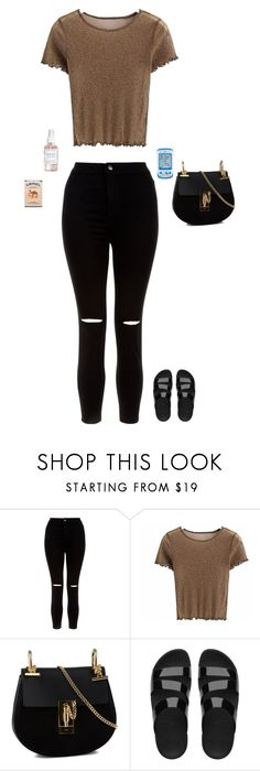 """""""Untitled #2318"""" by laylahnisoutfits ❤ liked on Polyvore featuring New Look, Chloé, FitFlop, Hello Kitty and Herbivore"""