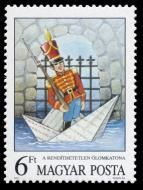Sello: The Steadfast Tin Soldier by Andersen (Hungría) (Fairy Tales) Mi:HU 3827 Andersen's Fairy Tales, Faeries, Submissive, Postage Stamps, Folk, Baseball Cards, Tin, Window, Google Search