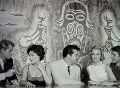 """1950's film """"Tiki Bar Romance"""" starring,in his first role, Troy Donohue  (on left , with cigarette)"""