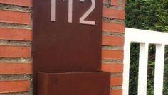 numeros placa acero corten para señal de casa talleres lobon
