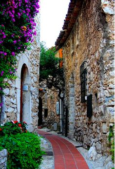 Street of Eze, Alpes-Maritimes, Provence-Alpes-Côte d'Azur, South France ✯ ωнιмѕу ѕαη∂у La Provence France, Eze France, Ville France, South Of France, Places Around The World, Oh The Places You'll Go, Places To Travel, Places To Visit, Around The Worlds
