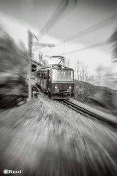 Train arrived Alps, My Images, Switzerland, Skiing, Photoshoot, Train, Black And White, Landscape, Portrait