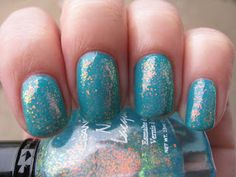Chunky Holo Teal shown over Butter London Slapper