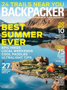 BACKPACKER - If you're interested in taking your hiking and camping to the next level, check out Backpacker Magazine. With articles on hikes, equipment, and locations, Backpacker will leave you excited to try your new outdoorsman skills. ➤ To see more news about the Interior Design Magazines in the world visit us at www.interiordesignmagazines.eu #interiordesignmagazines #designmagazines #interiordesign @imagazines