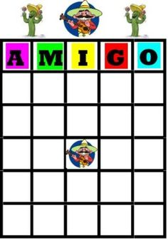 cute bingo game for cinco de mayo