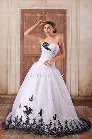 wedding dress with black lace - Google Search