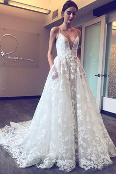 2019 Floral Lace Wedding Dress - Wedding Dresses for Fall Check more at http://svesty.com/floral-lace-wedding-dress/