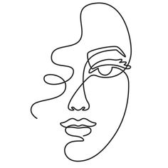 Minimalist Drawing, Minimalist Art, Face Line Drawing, Female Drawing, Woman Drawing, Abstract Face Art, Abstract Drawings, Outline Art, Face Outline