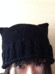 ソーイング:簡単可愛い 猫耳ニット帽