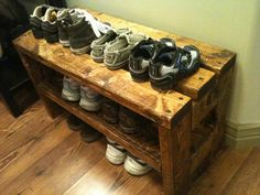 Handmade shoe rack by OakleysNook on Etsy, $100.00