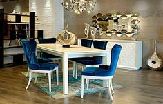 3 velvet dining room