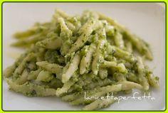 Homemade pesto with trofie pasta - Ate this in Rome.  Delicious!