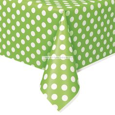 Lime Green Plastic Tablecover 2.99 each