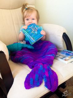 Mermaid Blanket Crochet Pattern. I need to make these for my girls! But first I need to learn how... Lol