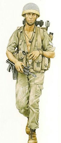 Paratrooper 1982, Israeli Army, pin by Paolo Marzioli