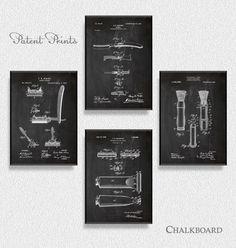 Bathroom Patents Set of 4 Prints, Bathroom Prints, Bathroom Posters, Bathroom… Bathroom Posters, Bathroom Prints, Bathroom Wall Art, Bathroom Furniture, Apothecary Bathroom, Wall Prints, Poster Prints, Office Wall Decor, Home Design Decor
