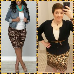 #ChubbyChique 4-14-2015 #ootd #AprilPinnedItSpinnedIt Leopard, white and dark blue inspiration