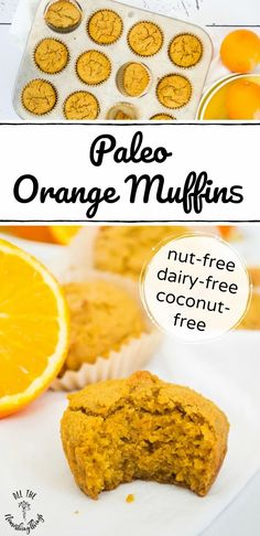 These Easy Paleo Orange Muffins have such a bright and sunny flavor, and are so good for you because of resistant starch cassava flour and collagen for added protein. Throw all the ingredients into your blender for a quick paleo breakfast, lunchbox treat, or after-school snack! #allthenourishingthings #paleo #muffins #cassavaflour #paleobreakfast #resistantstarch #grainfree #dairyfree #nutfree #coconutfree Kitchen Recipes, Paleo Recipes, Gourmet Recipes, Real Food Recipes, Muffin Recipes, Baking Recipes, Free Recipes, Nut Free, Dairy Free