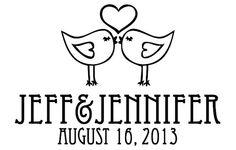 Lovebirds Wedding Logo by kpjDesigns on Etsy, $20.00