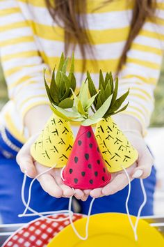 DIY Mini Watermelon Party Hats