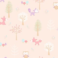 """Brewster Home Fashions You Are My Sunshine 33' x 20.5"""" Forest Friends Animal Wallpaper 