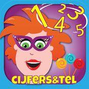 Met de app leren kinderen: -cijfers en getallen herkennen -tellen -getalgevoel -de getallen 1 t/m 20