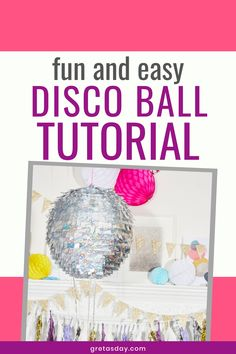 Have fun at your next quarantine party with this DIY Disco Ball. It's great for birthdays, impromptu dance parties, or just feeling fancy. The fun craft tutorial is great for all ages from kids to adults, and the supplies can be purchased online. Adult Crafts, Fun Crafts, Diy And Crafts, Dance Parties, Glitter Crafts, Amazing Crafts, Disco Ball, Diy Birthday, Diy For Kids