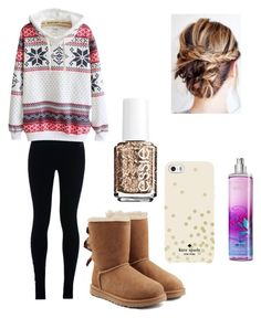 """Untitled #46"" by masha-anastasia on Polyvore featuring NIKE, UGG Australia, Kate Spade and Essie"