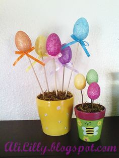 AliLily | Sweet and Easy Easter Egg Flower Pots