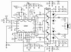 170 W POWER AMPLIFIER schematic