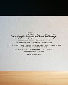 This simple design needs no additional embellishments to shine.Simple Invitation