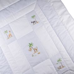 baby quilt on safari