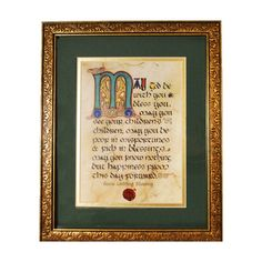A beautiful wedding blessing to be hung in the home - made just like the ancient illuminated manuscripts penned by Irish monks centuries ago.