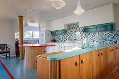 retro-modern-red-and-aqua-kitchen